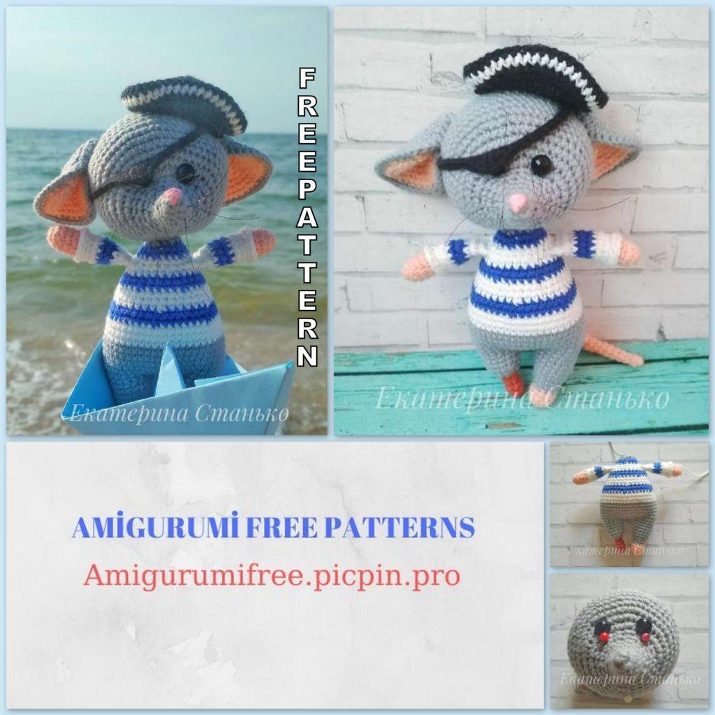 Amigurumi Pirate Mouse Free Pattern