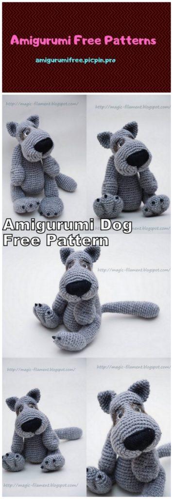 Knit Amigurumi Dog Toy Sofites Free Knitting Patterns   1024x356
