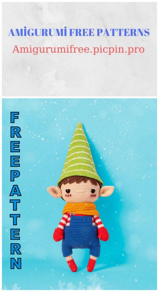 Amigurumi Elf Pachito Free Crochet Pattern