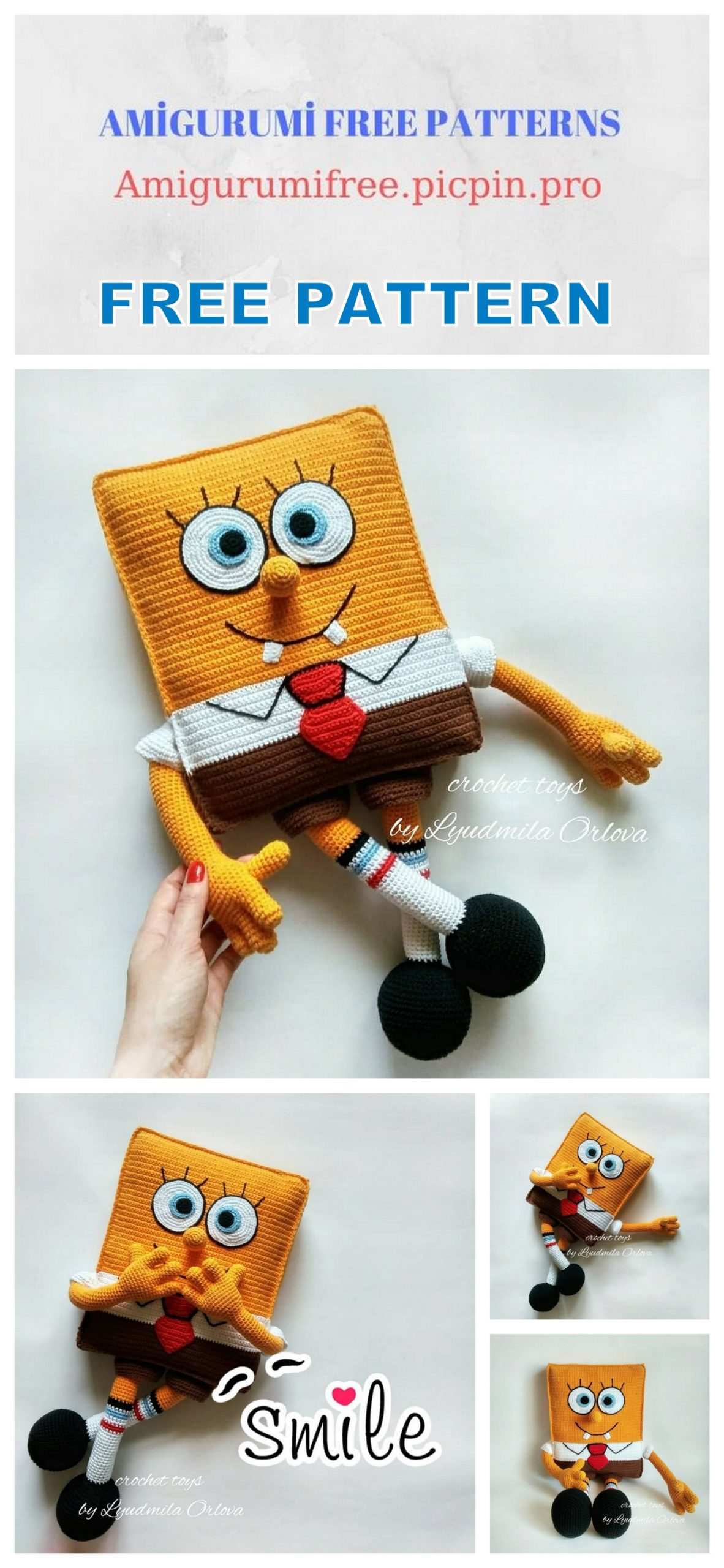 Pattern, SpongeBob And Patrick Star Pattern, Crochet Tutorial ...   2560x1182