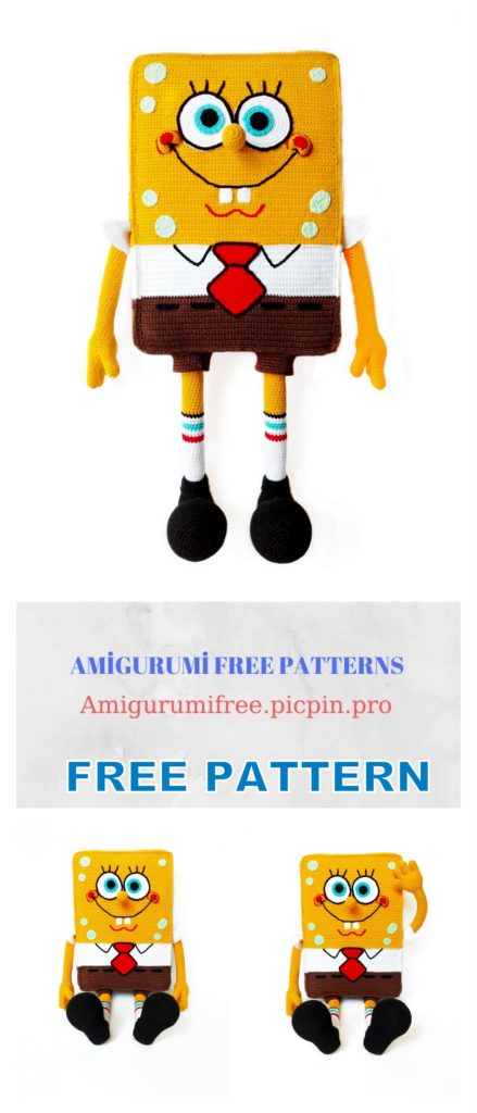 Amigurumi Sponge Bob Free Crochet Pattern