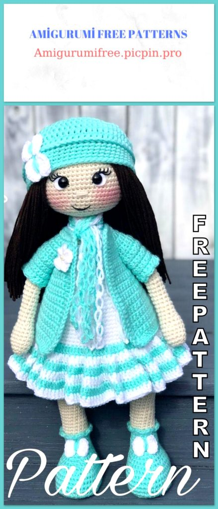 Amigurumi Doll Adry Free Crochet Pattern