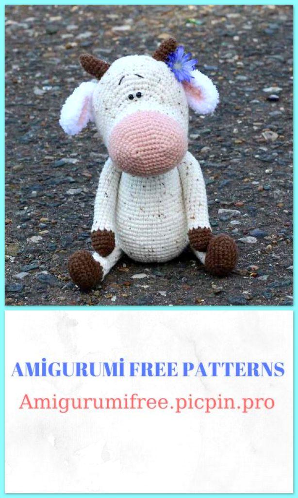 Amigurumi Cute Cow Free Crochet Pattern