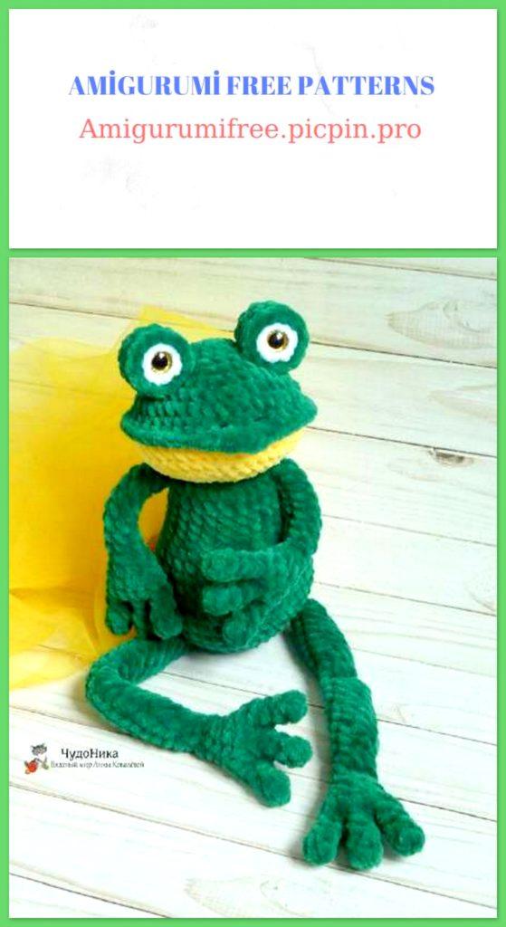 Amigurumi Velvet Frog Free Crochet Pattern