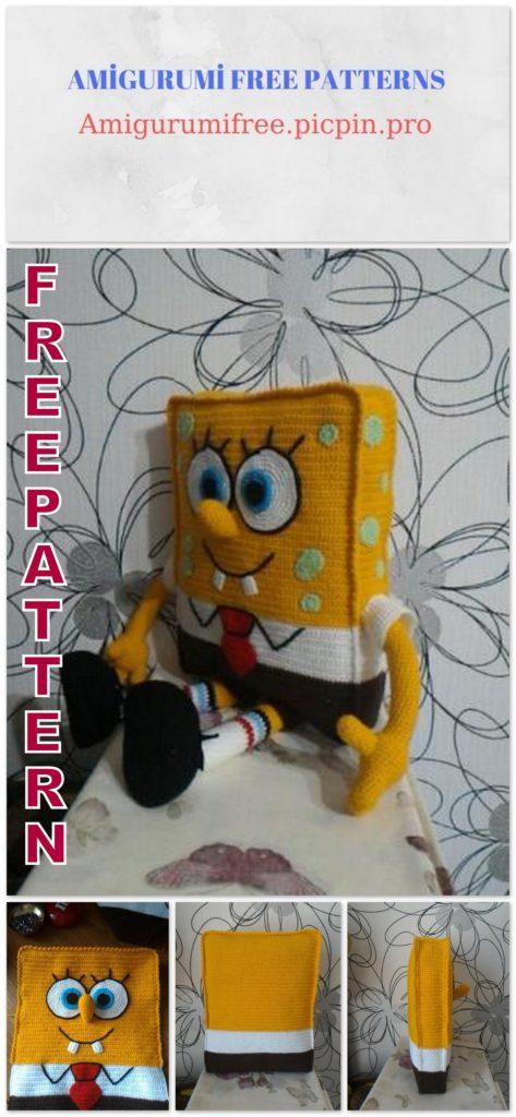 Crochet spongebob beautiful potholder (2) - free cross stitch ...   1024x473