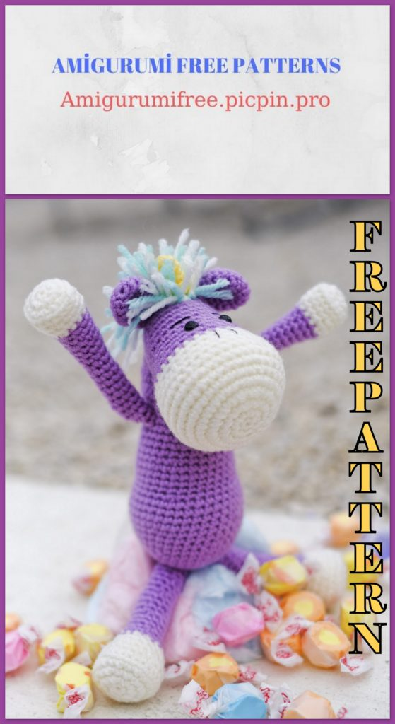 Amigurumi Litle Cute Unicorn Free Crochet Pattern
