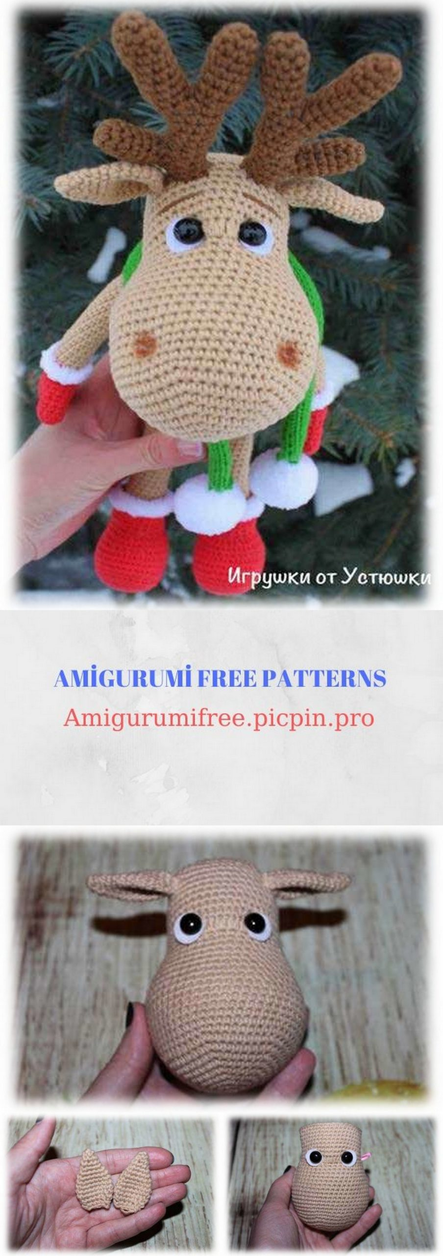Rupert, crochet reindeer pattern   Son's Popkes   2560x904