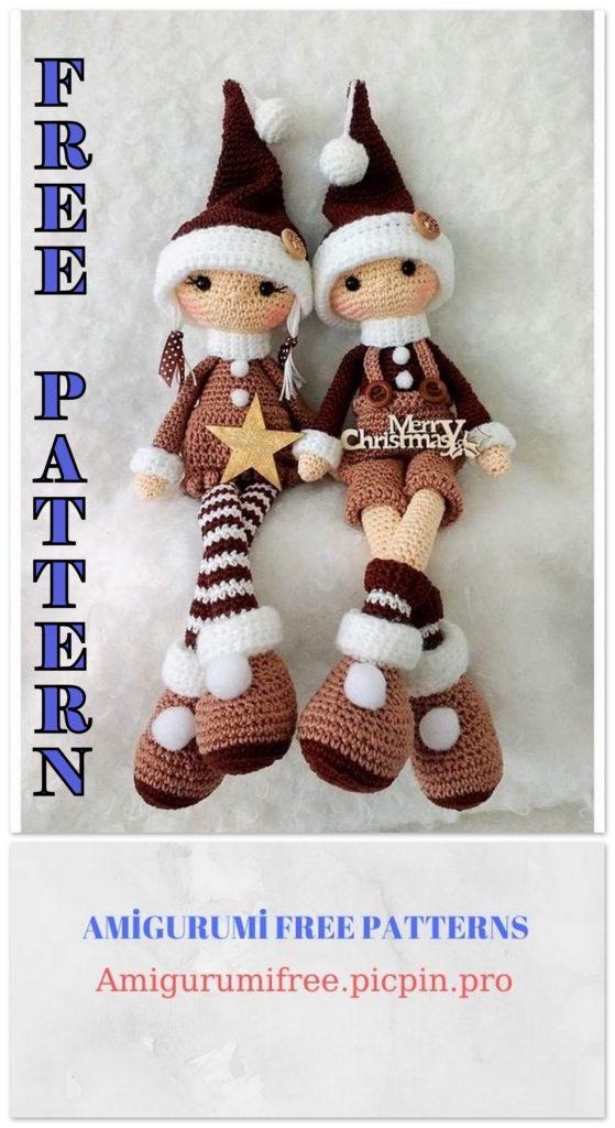 Amigurumi Christmas Elf Free Crochet Pattern