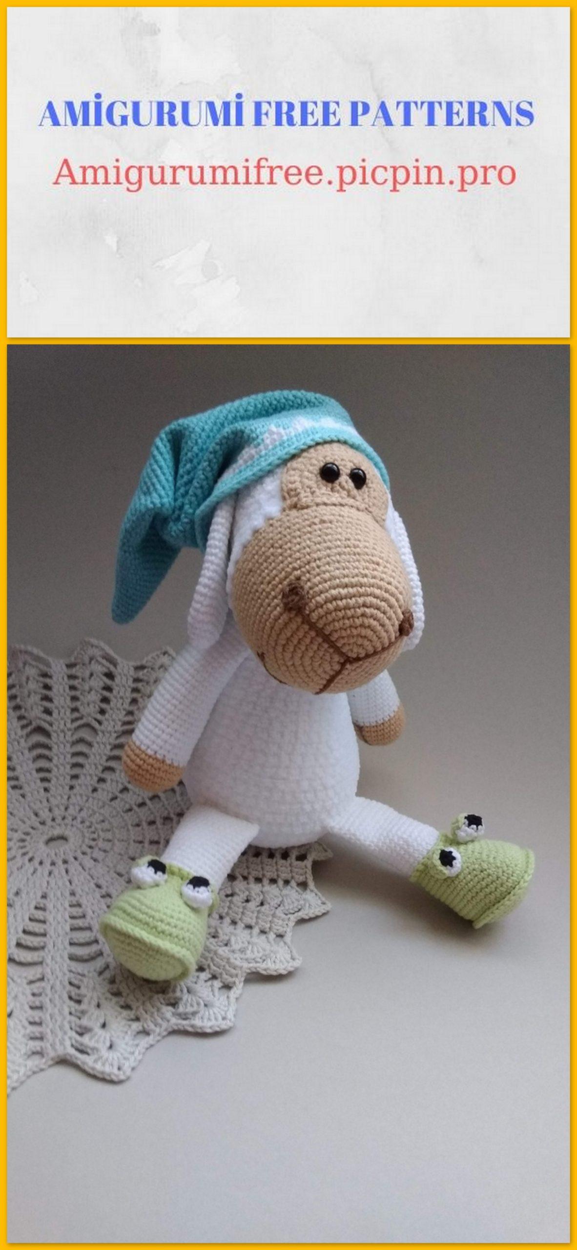 Crocheted sheep pattern | 2560x1182