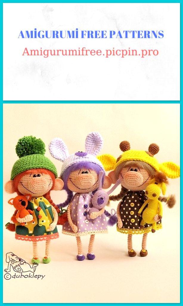 Amigurumi Candy Girls Free Crochet Pattern