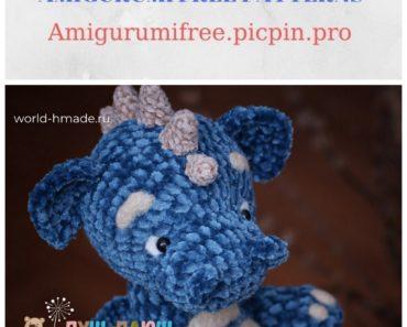 Amigurumi Velvet Sweet Dragon Free Crochet Pattern