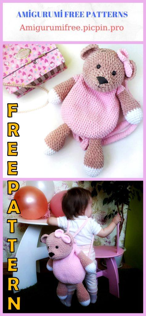 Amigurumi Bear Backpack Free Crochet Pattern