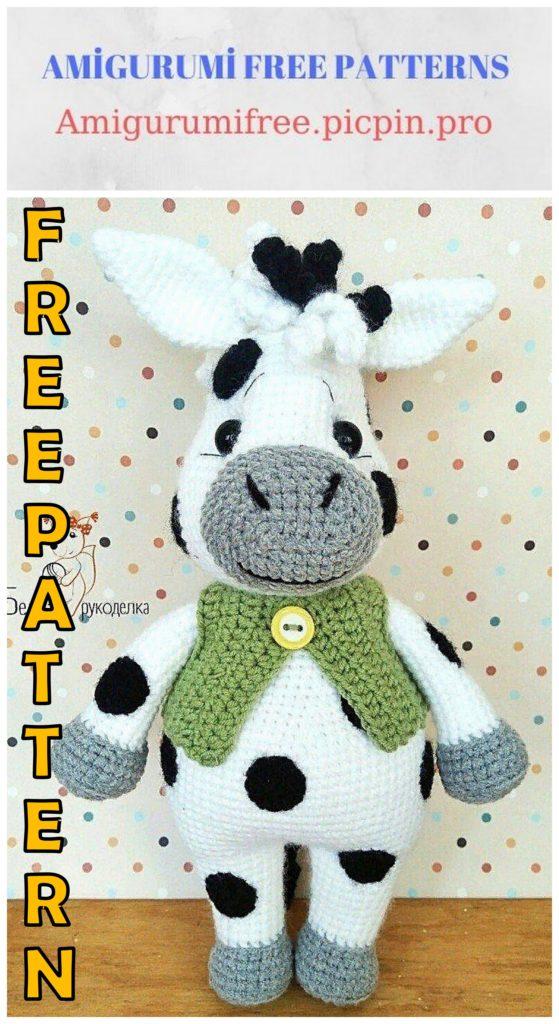 Amigurumi Spotted Zebra Free Crochet Pattern