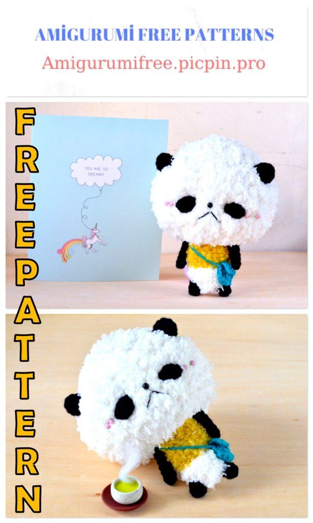 Amigurumi Panda Pan-San Free Crochet Pattern
