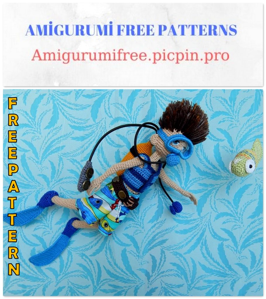 Amigurumi Scuba Diver Doll Free Crochet Pattern