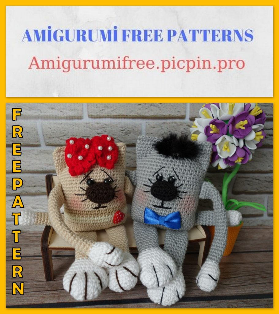 Amigurumi Angular Cat Free Crochet Pattern