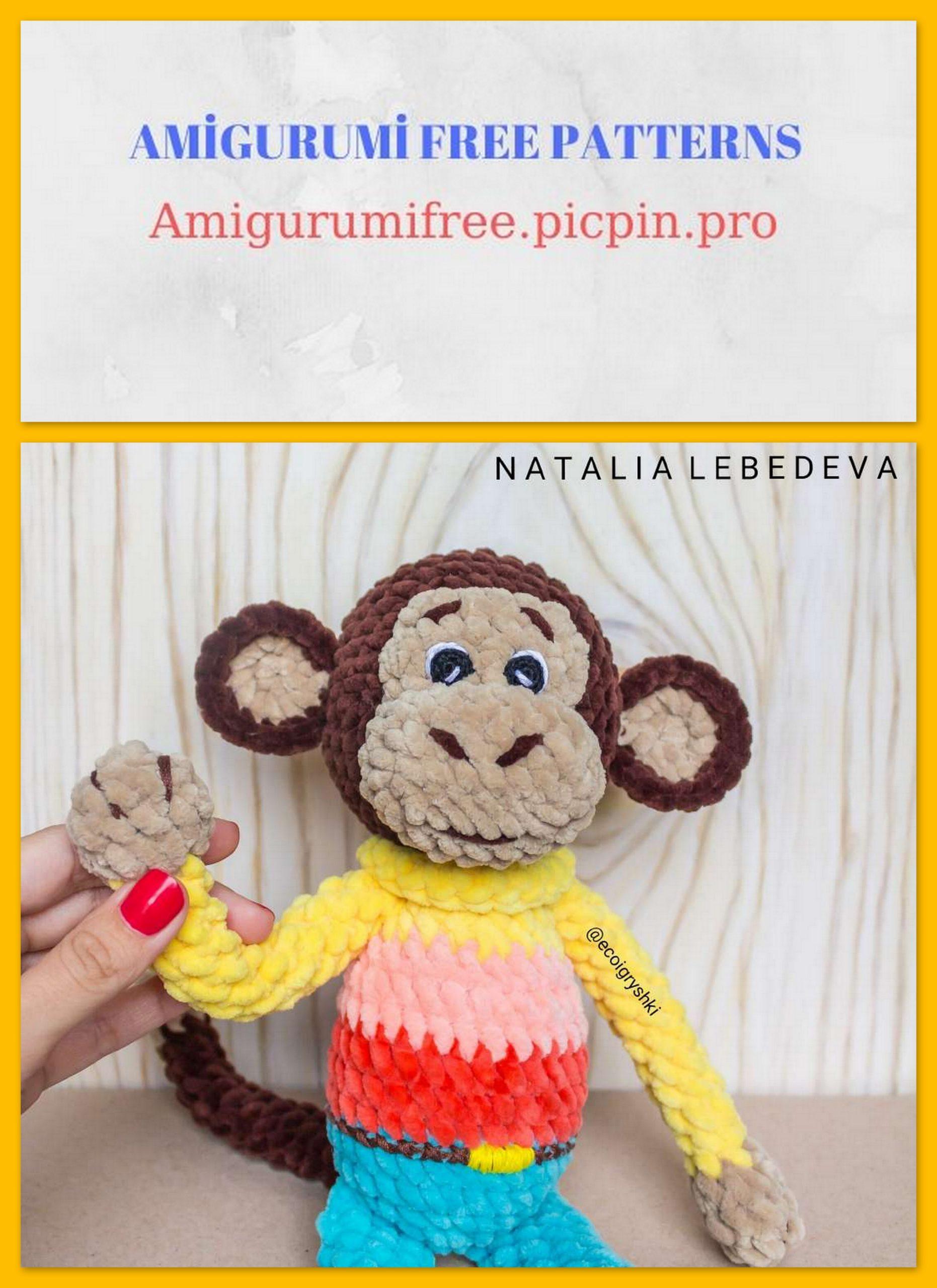 Mambo the Monkey - amigurumi monkey pattern | lilleliis | 2560x1862