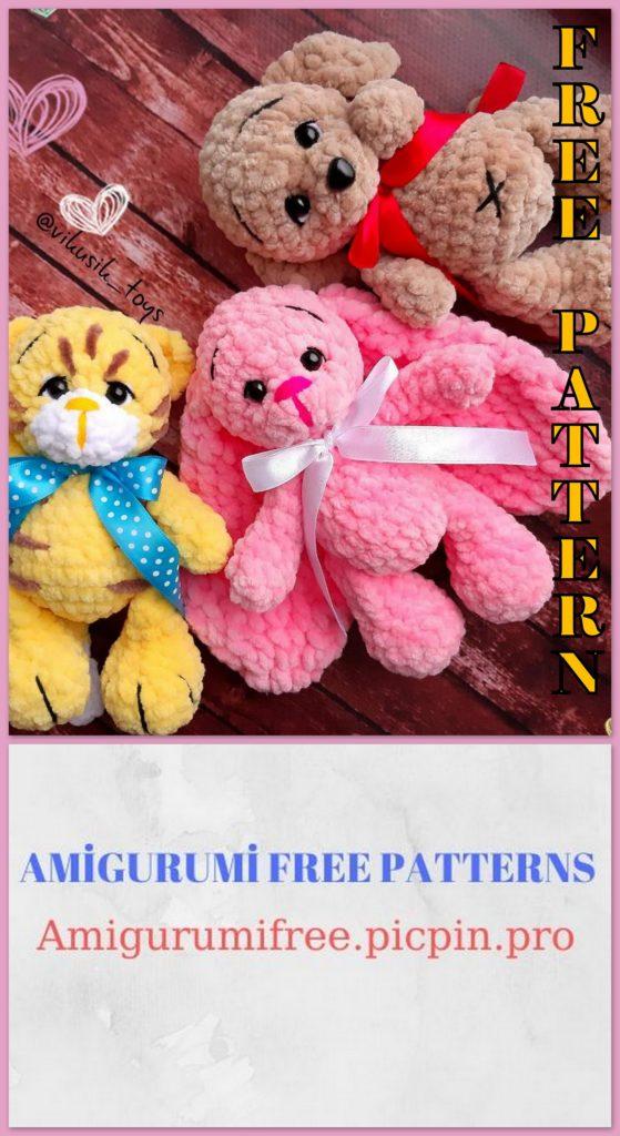 Amigurumi Velvet Tiger Dog And Cat Free Crochet Pattern