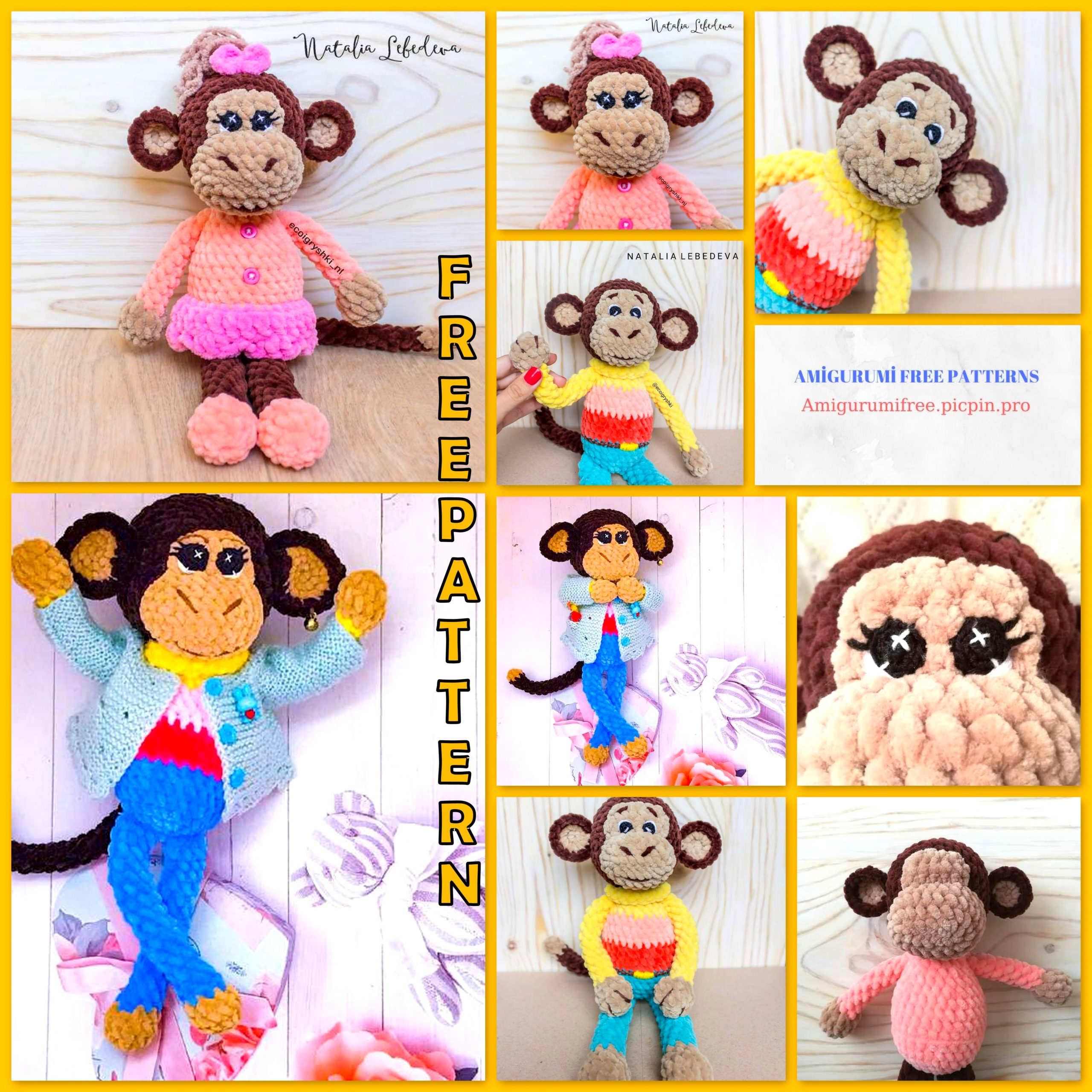 Amigurumipatterns.net - Creations - Happy the Monkey Clown from ... | 2560x2560