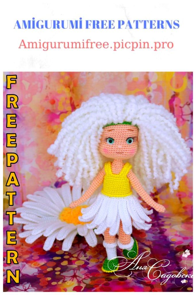 Amigurumi Camomile Girl Free Crochet Pattern