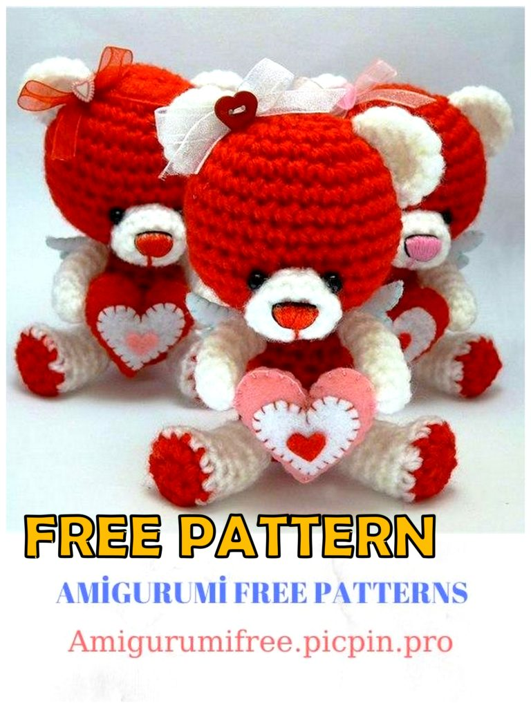 Amigurumi Valentines Bear Free Crochet Pattern