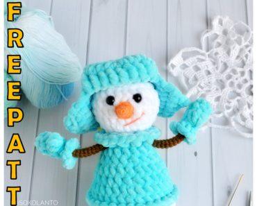 Frozen Snowman Amigurumi Pattern | AllFreeCrochet.com | 297x370