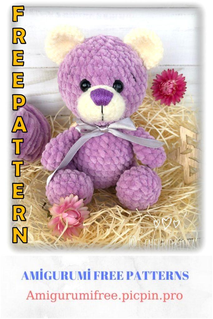 Amigurumi Velvet Cute Teddy Bear Free Crochet Pattern